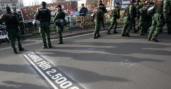 German town turns tables on neo-Nazis