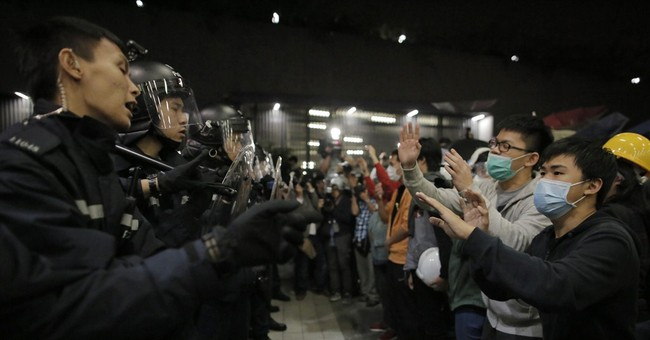 Hong Kong activists clash with police, 4 arrested
