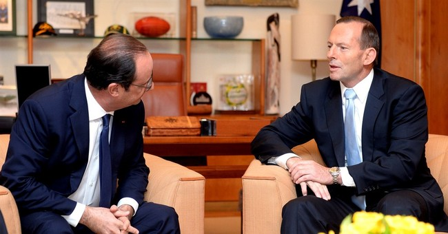 French and Australian leaders discuss climate