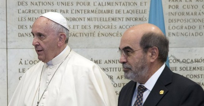 Pope demands just distribution of world's bounty