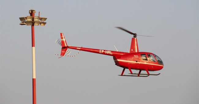 Iran firm displays US-made helicopters