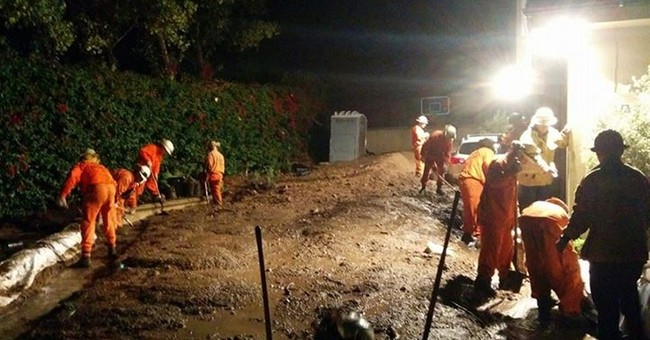California storms bring scattered rain, mudslides