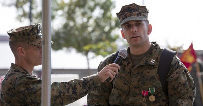Marine with robotic leg braces gets Bronze Star