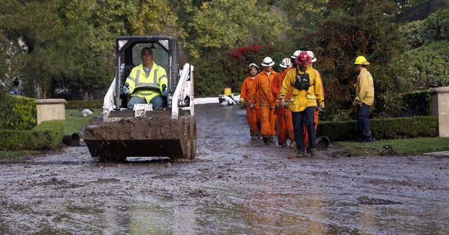 California storms bring scattered rain, mudslides