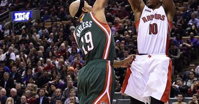 Williams scores 22 as Raptors beat Bucks 124-82