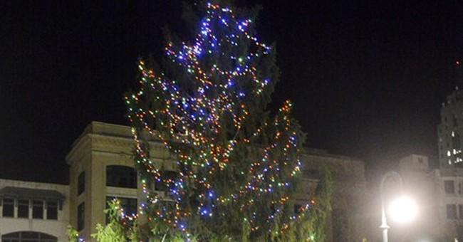 City's ugly Christmas tree getting single red bulb