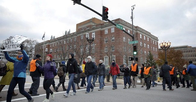 Clergy protest grand jury decision near Ferguson