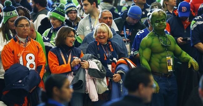 NYC's Penn Station awash in football fans