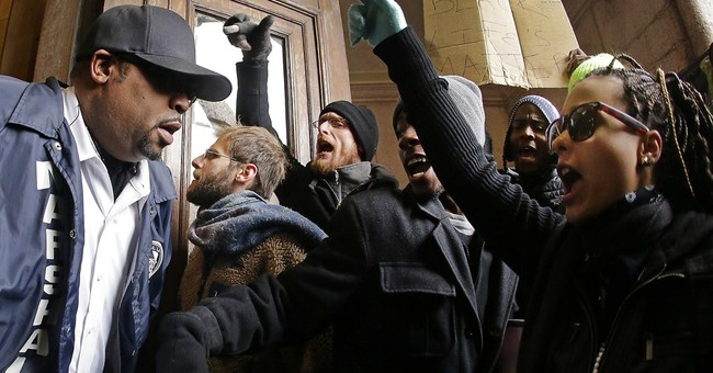 Ferguson protesters storm St. Louis City Hall