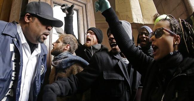 Ferguson protesters storm St. Louis City Hall