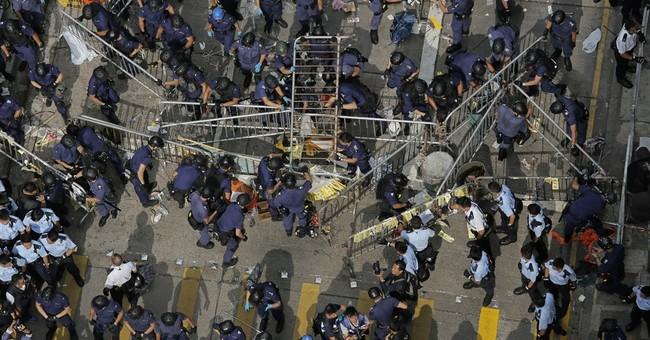Hong Kong police arrest student protest leaders