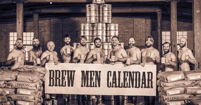 Brawny bearded brewers bare nearly all for charity