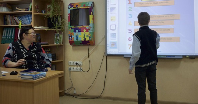 War-hit Ukraine schools turns to Web for education
