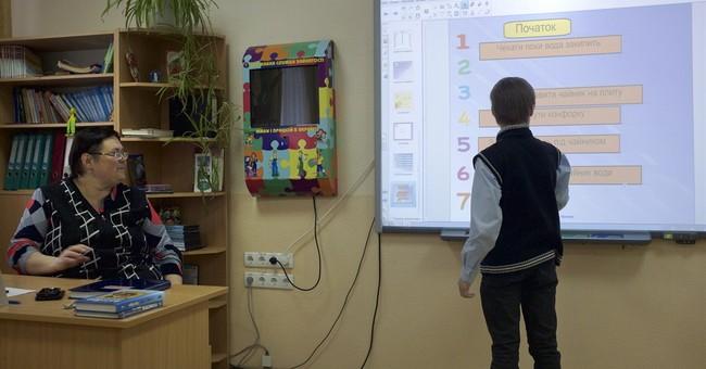 War-hit Ukraine schools turns to Web for education