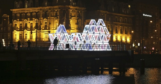 Art festival lights up Amsterdam in dark winter