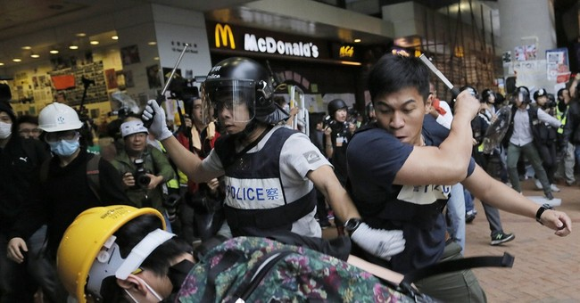 Image of Asia: Hong Kong police, protesters clash
