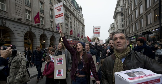 London tenants protest, fear they will lose homes