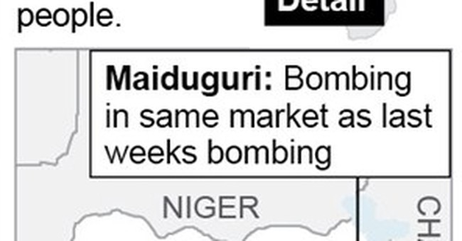 Teenage suicide bomber caught in northern Nigeria
