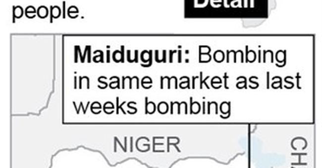 Teenage suicide bomber caught in northern Nigeria