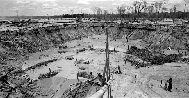 AP PHOTOS:  Illegal gold mining's wasteland