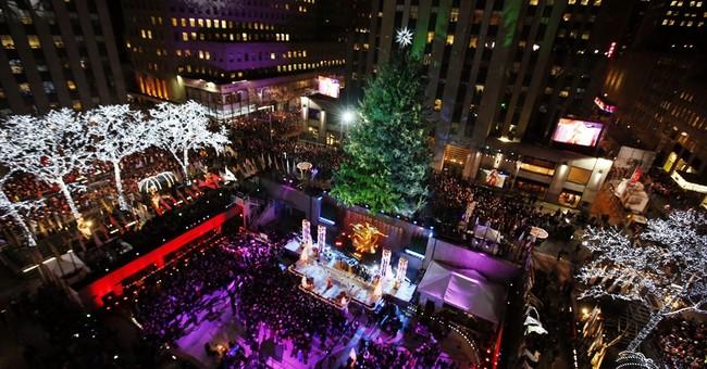 NYC Christmas tree lighting amid protests, police