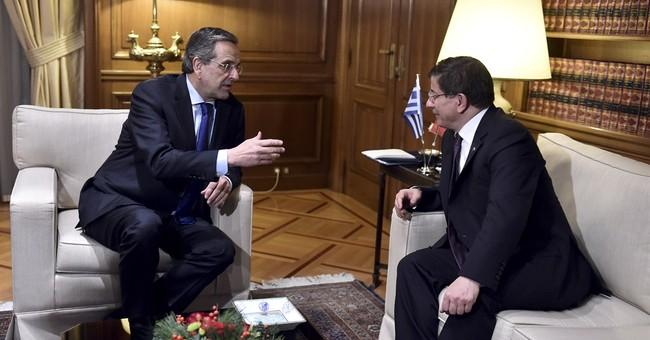 Turk, Greek PMs stress importance of better ties