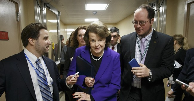 Grim-faced Feinstein lays out CIA case to Senate