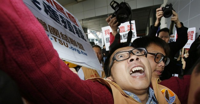 Image of Asia: Protesting China official in Taiwan