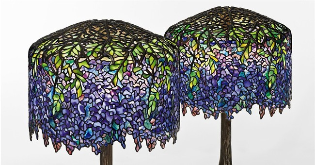 2 wisteria lamps centerpiece of Tiffany auction