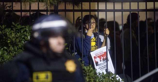 Hundreds march as California protests continue