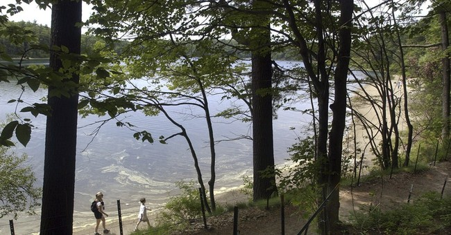 Walden Pond where Thoreau lived simply goes solar
