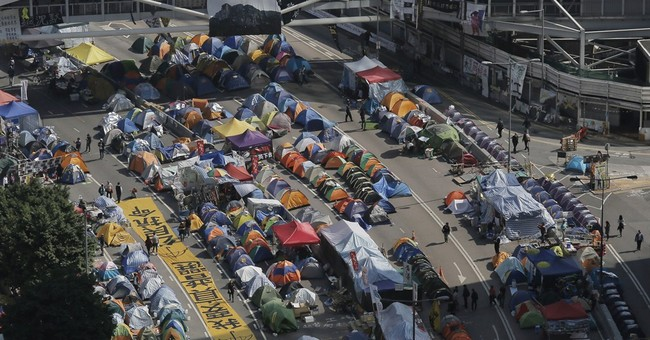 Hong Kong police: protest camp shutdown Thursday