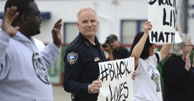 Northern California police chief joins peaceful protest