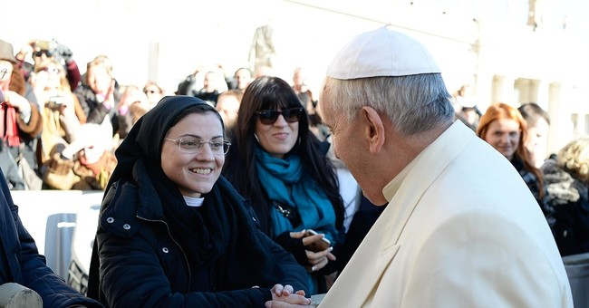 Singing nun gives pope CD with 'Like a Virgin'