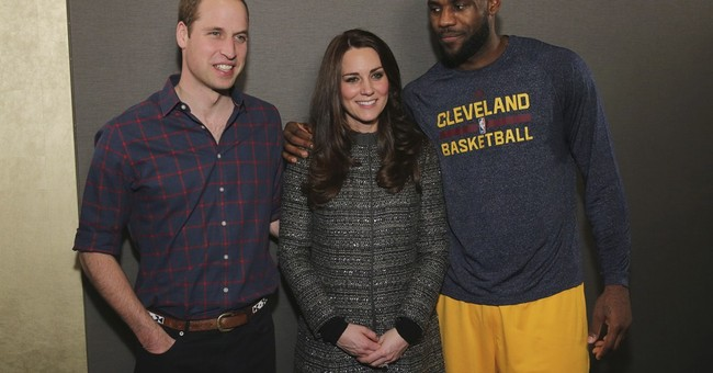 King James commits personal foul with royal touch
