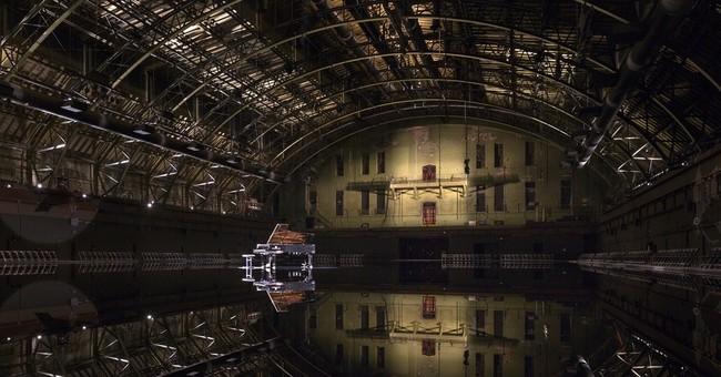 Art transforms armory into reflective pool