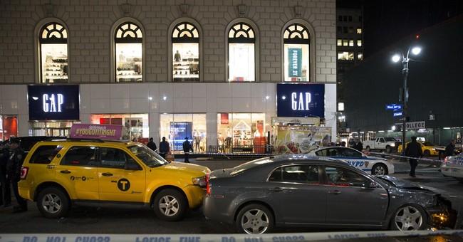 FDNY: 6 injured when car jumps curb in Manhattan