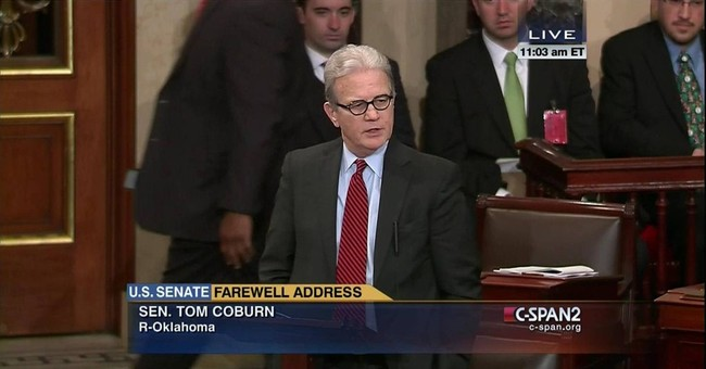 Coburn exits Senate with plea to preserve rights