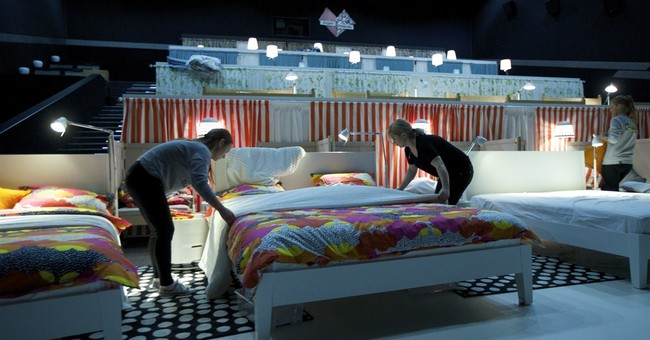 Movie slumber party: Beds replace theater seats