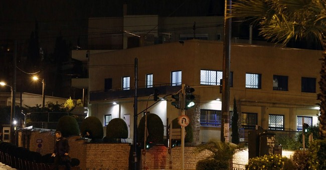 Dozens of shots fired at Israeli embassy in Athens