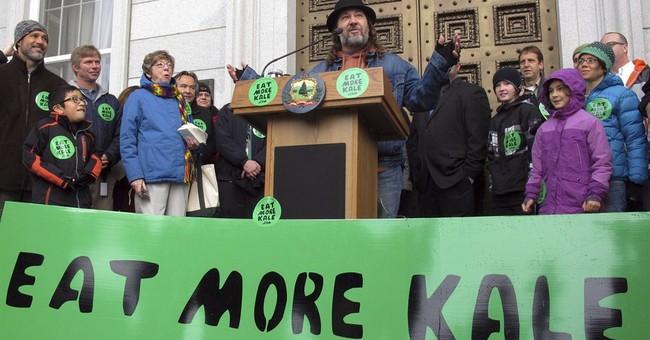 Man celebrates his new 'eat more kale' trademark