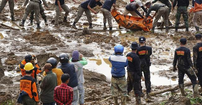 Indonesia landslide kills 8 people; 100 missing