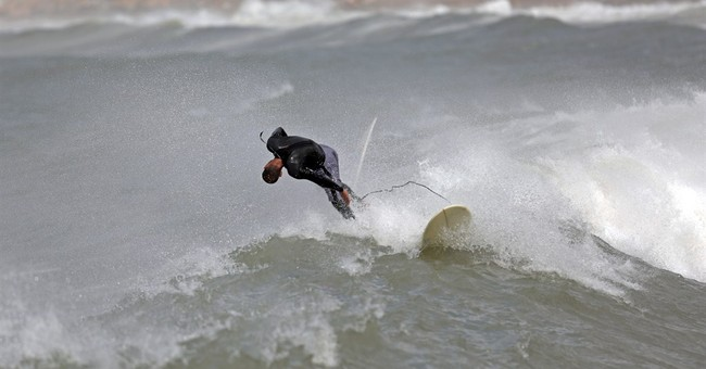 Surfs up in Gaza Strip for the brave amid hardship
