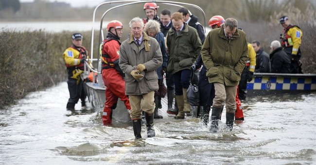 Prince Charles visits UK flood victims