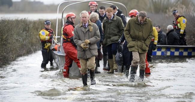Prince Charles visits UK flood victims