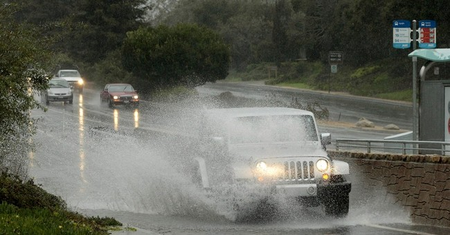Soggy California gets wind, rain from new storm