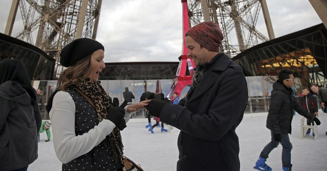 American pops question at Eiffel Tower ice-rink