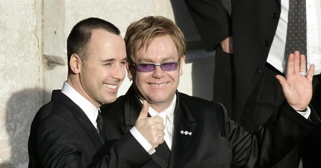 Happy day: Elton John, David Furnish marry in England