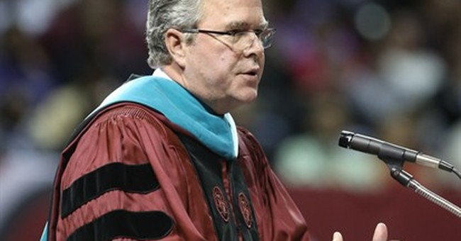 Why Jeb Bush is _ and isn't _ the GOP front-runner