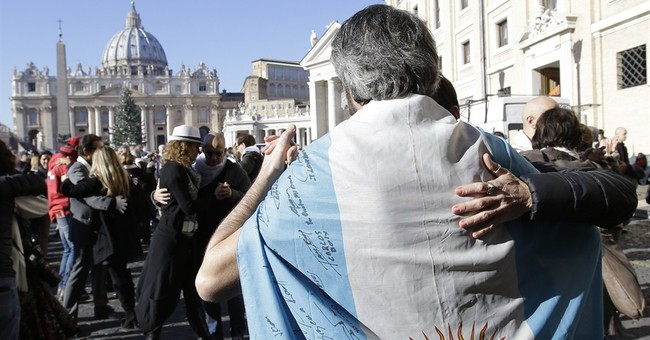 Pope gets cake, tango and chicken for birthday
